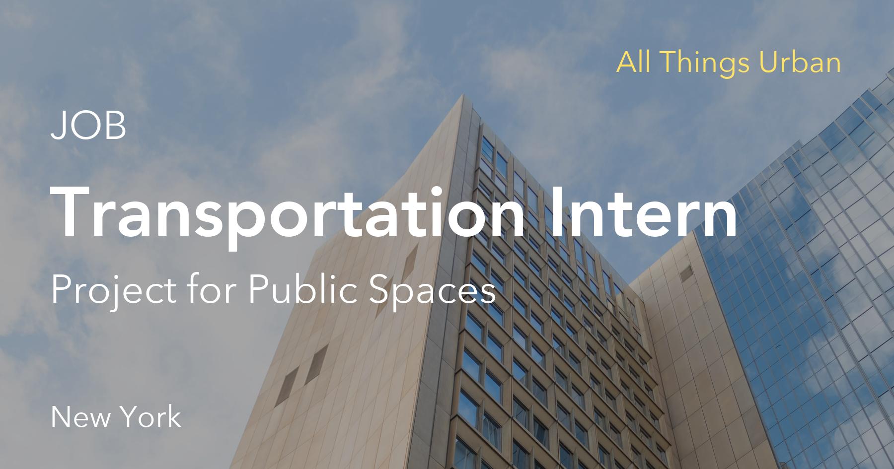 Transportation Intern